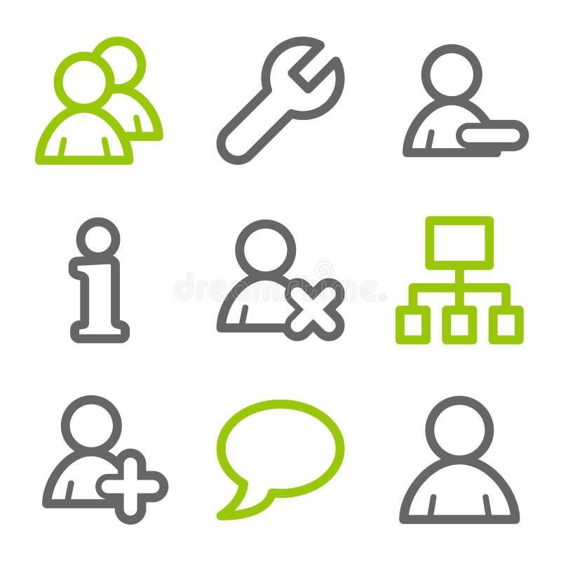 Het Webpictogrammen van gebruikers stock illustratie