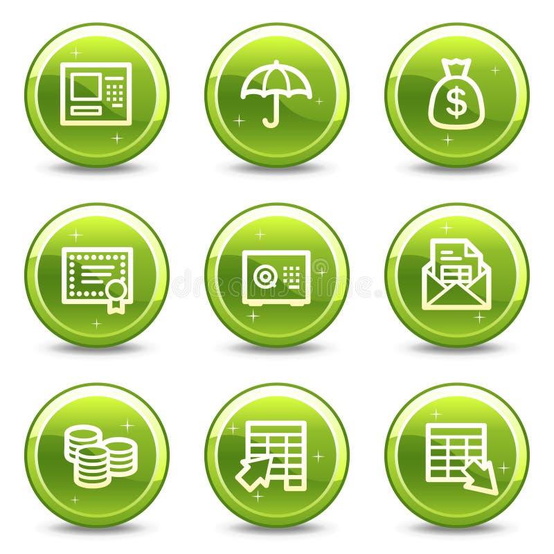 Het Webpictogrammen van het bankwezen vector illustratie
