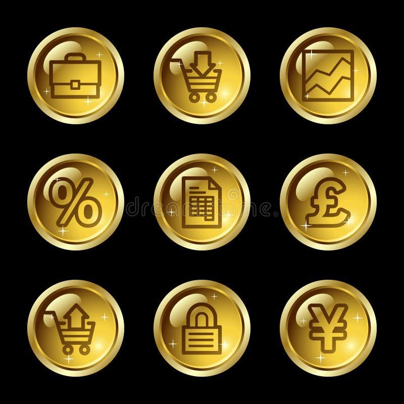 Het Webpictogrammen van het e-business vector illustratie
