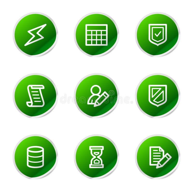 Het Webpictogrammen van het gegevensbestand stock illustratie