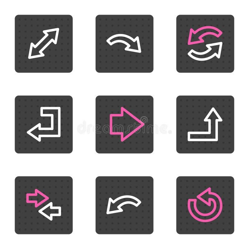 Het Webpictogrammen van pijlen stock illustratie