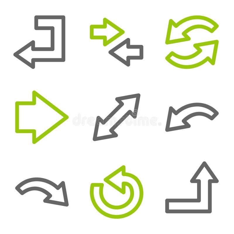 Het Webpictogrammen van pijlen vector illustratie