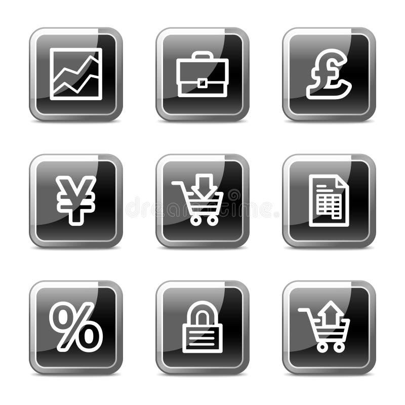 Het Webpictogrammen van pijlen, glanzende knopenreeks stock illustratie