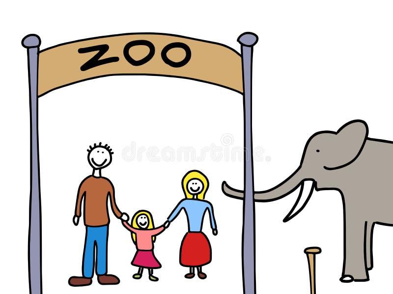Het weekend van de familie vector illustratie