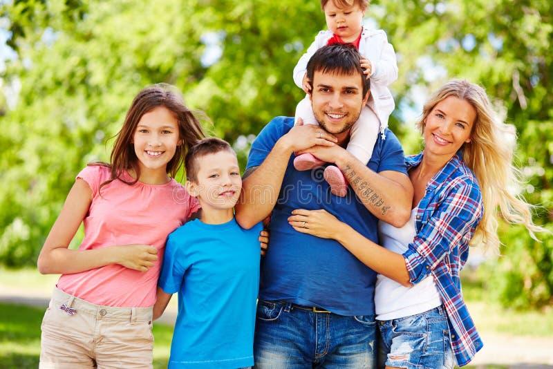 Het weekend van de familie stock foto