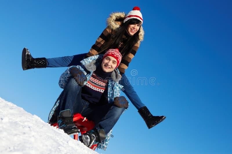 Het weekend van de winter royalty-vrije stock foto