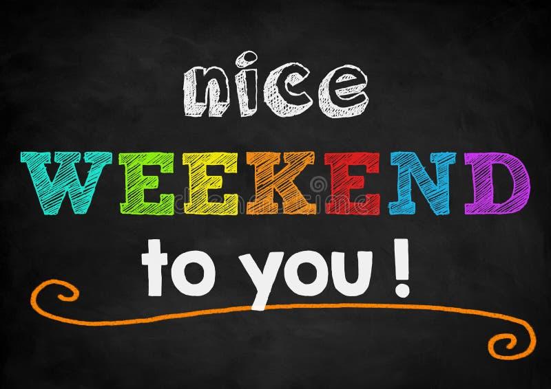 Het weekend van Nice vector illustratie