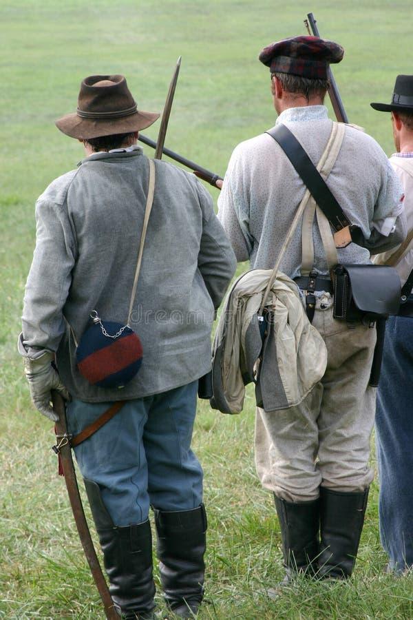 Het Weer invoeren van de Burgeroorlog royalty-vrije stock fotografie