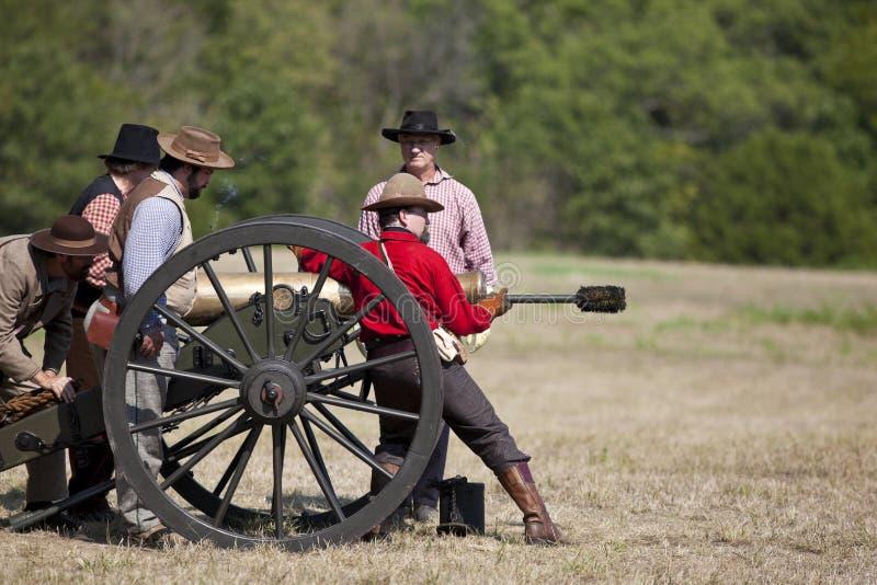 Het Weer invoeren van de Burgeroorlog royalty-vrije stock afbeeldingen