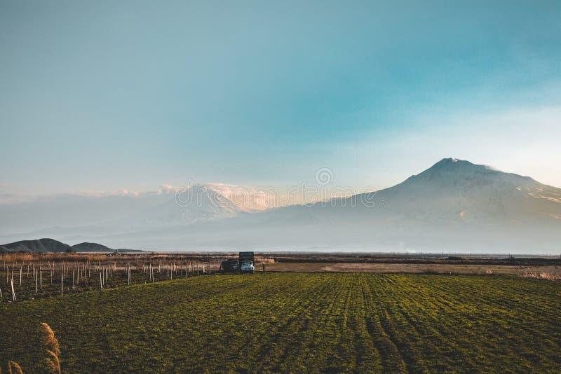 Het Weergeven van de Araratvallei van Armenië royalty-vrije stock foto