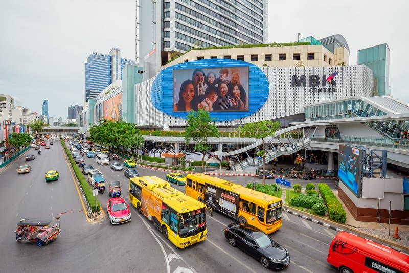 Het Weergeven van MBK-Winkelcentrum het is een wandelgalerij die met toeristen populair is royalty-vrije stock fotografie