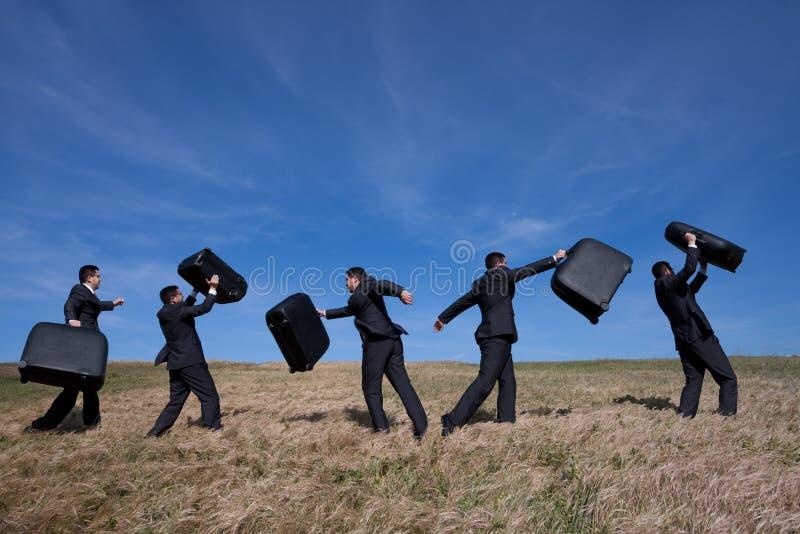 Het weggaan aan een bedrijfsreis stock fotografie