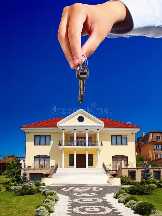 Het weggeven van de sleutels royalty-vrije stock foto