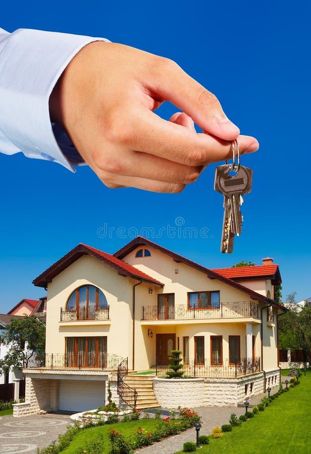 Het weggeven van de sleutels royalty-vrije stock foto's