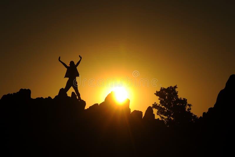 Het welkom heten voor de zon stock afbeeldingen