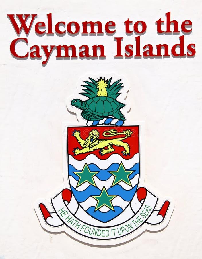 Het welkome teken van Caymaneilanden stock foto's