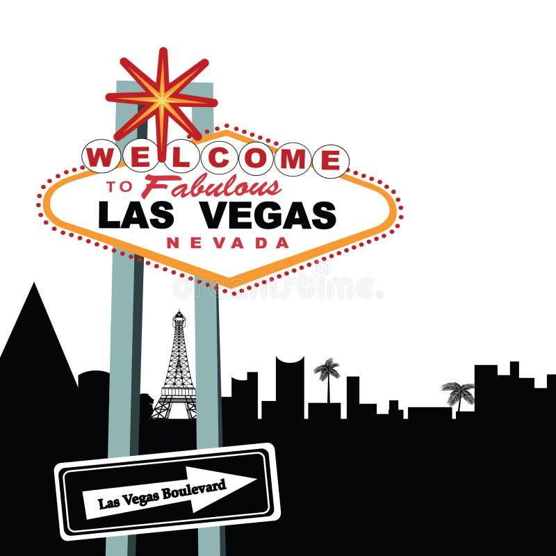 Het Welkome Teken van de Boulevard van Vegas van Las   royalty-vrije illustratie