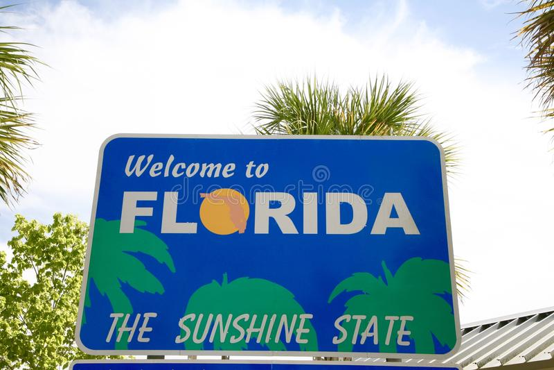 Het Welkome Teken van Florida stock foto