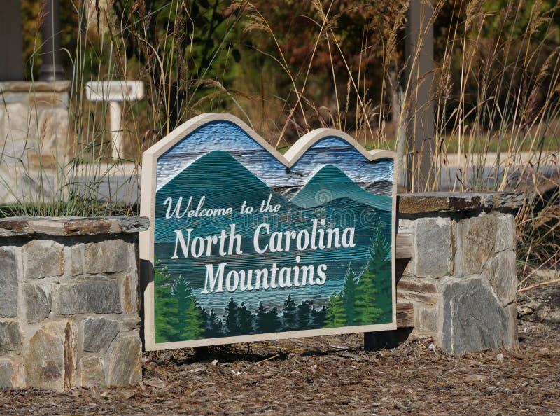 Het welkome teken van het bezoekercentrum in Noord-Carolina royalty-vrije stock afbeeldingen