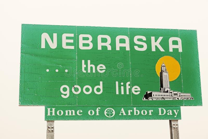 Het Welkome Teken van Nebraska royalty-vrije stock foto's