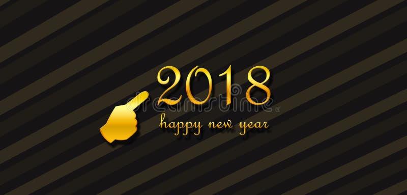 Het wensen van een gelukkig nieuw jaar 2018 royalty-vrije illustratie
