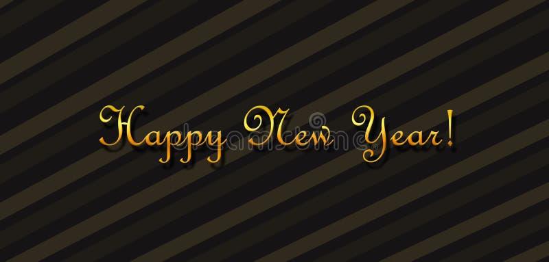 Het wensen van een gelukkig Nieuwjaar royalty-vrije illustratie
