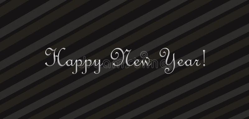 Het wensen van een gelukkig Nieuwjaar stock illustratie