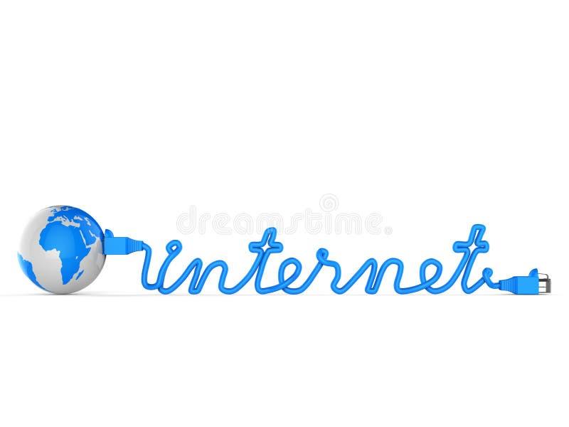 Het wereldwijde netwerk toont Online PC en globaal stock illustratie