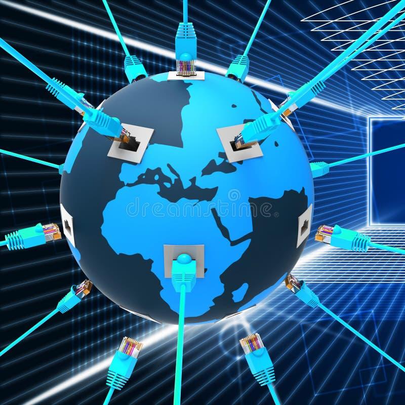 Het wereldwijde netwerk toont Website en Verbinding royalty-vrije illustratie