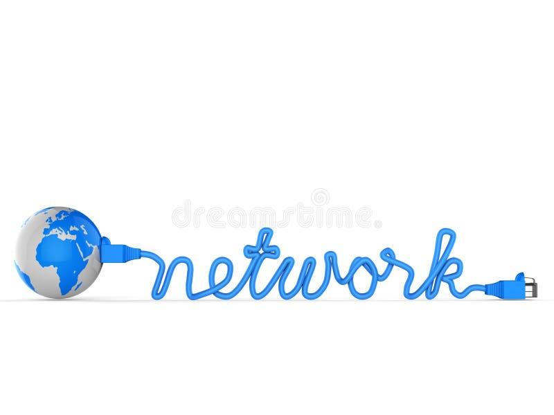Het wereldwijde netwerk wijst op Globale Mededelingen en Verbinding stock illustratie