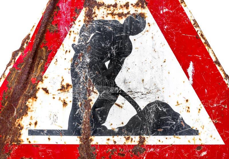 Het werk lopende verkeersteken royalty-vrije stock foto's