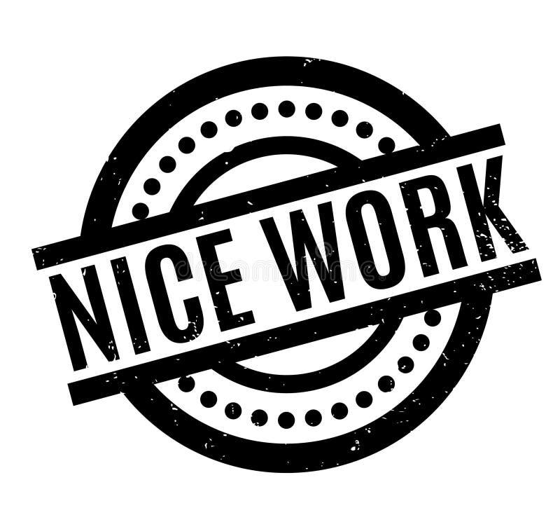 Het Werk rubberzegel van Nice royalty-vrije illustratie