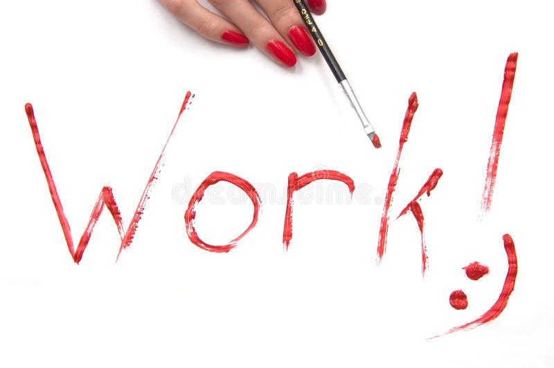 Het werk! teken stock illustratie