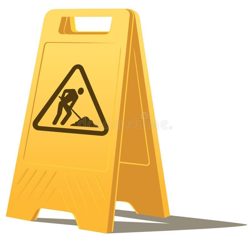 Het werk in uitvoering waarschuwt teken vector illustratie