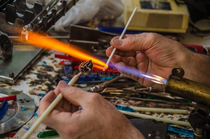 Het werk van de glasventilator stock foto's