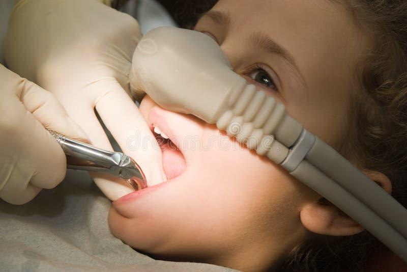 Het werk van de tandarts stock foto