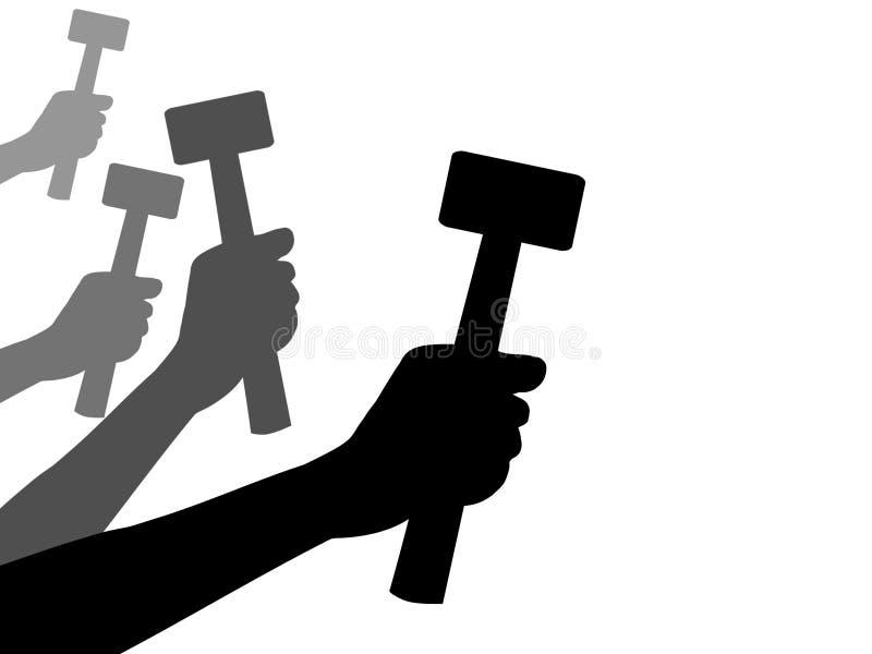 Het Werk van het Werk van het werk stock illustratie