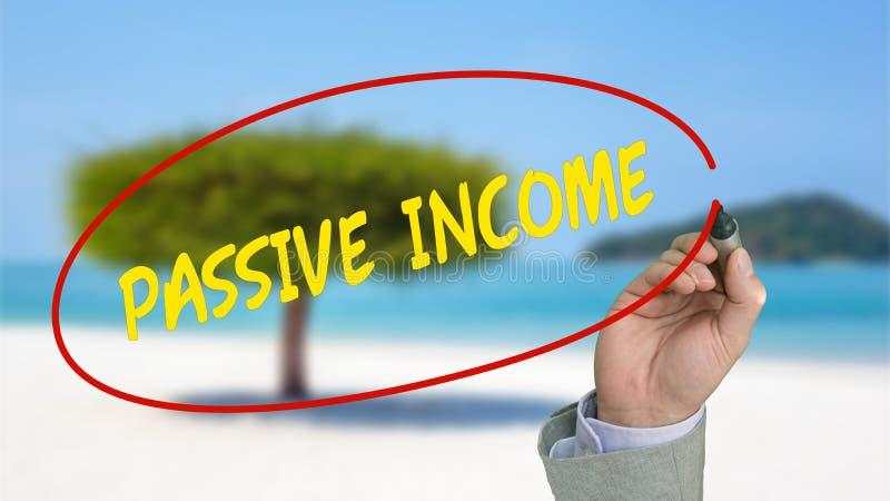 Het werk van overal passief inkomensconcept stock afbeeldingen
