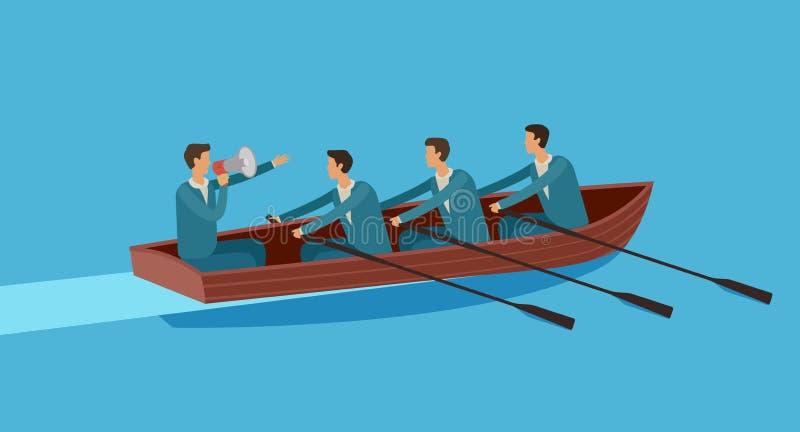 Het werk van het team Zaken, groepswerk, het bereiken doelconcept Vector illustratie stock illustratie