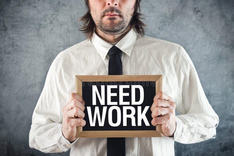 Het werk van zakenmanbehoeften stock foto's