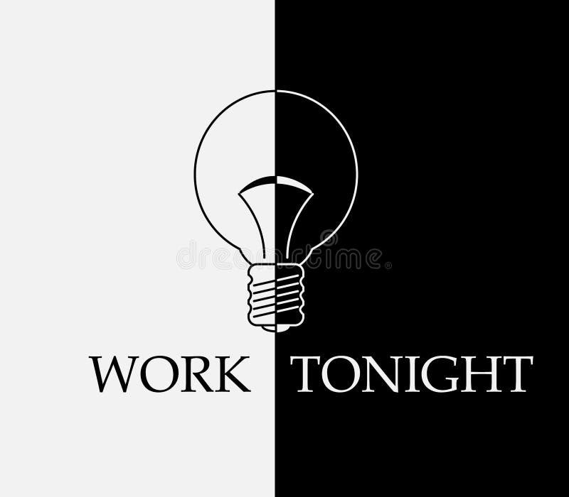 Het werk vanavond vector illustratie
