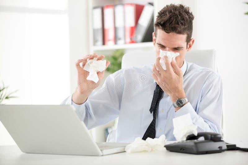 Het werken met Allergie royalty-vrije stock foto's