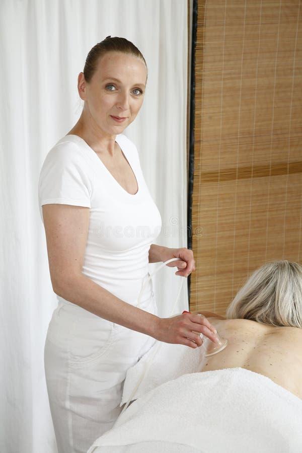 Het werken van de masseuse royalty-vrije stock foto