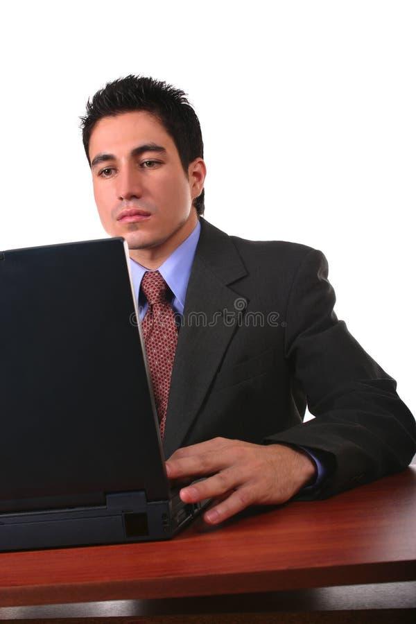 Het werken van de zakenman stock foto's