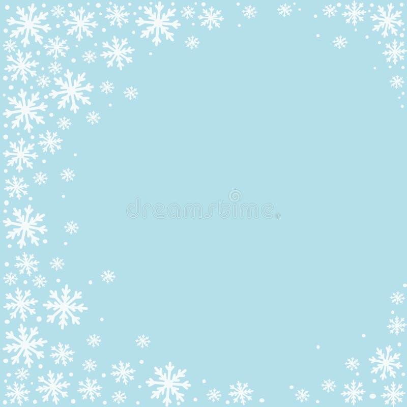 Het werkingsgebied van de winter vector illustratie