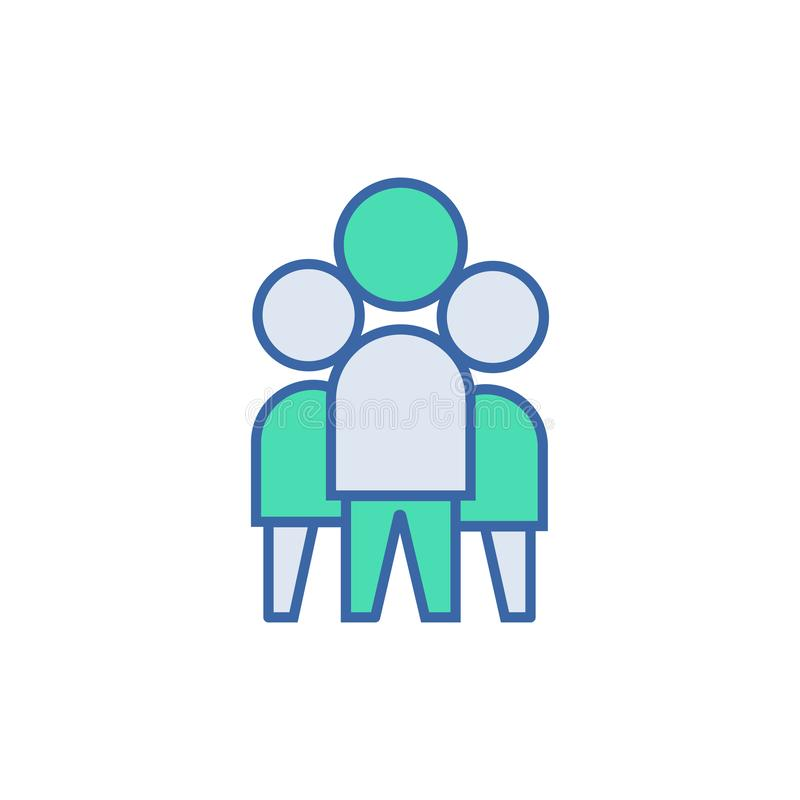Het werkpictogram van het team vectorregeling en Diagramsymbool vlak Team Work-pictogram stock illustratie