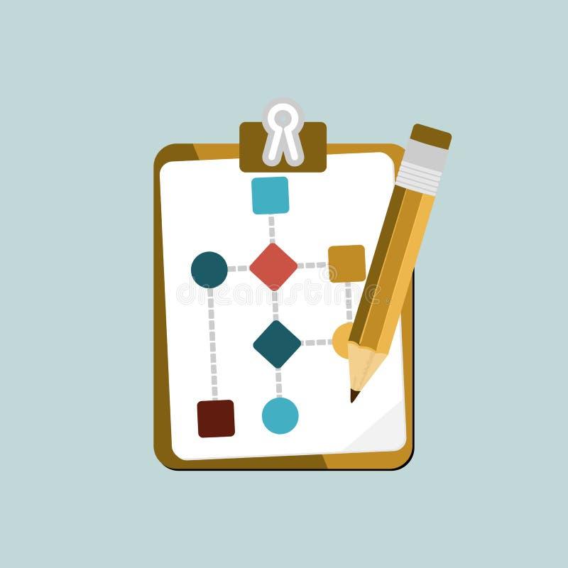 Het werkstroom royalty-vrije illustratie