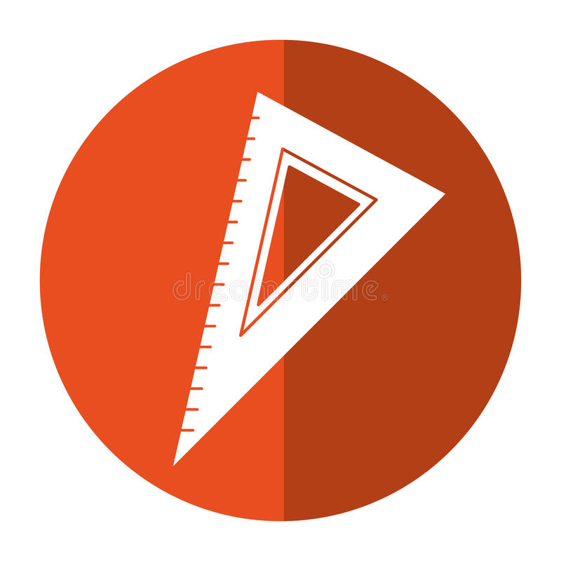 Het werktuigschaduw van de driehoeksheerser vector illustratie