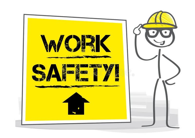 Het werkveiligheid - Veiligheid en Gezondheid bij het Werk Vectorillustratie stock illustratie