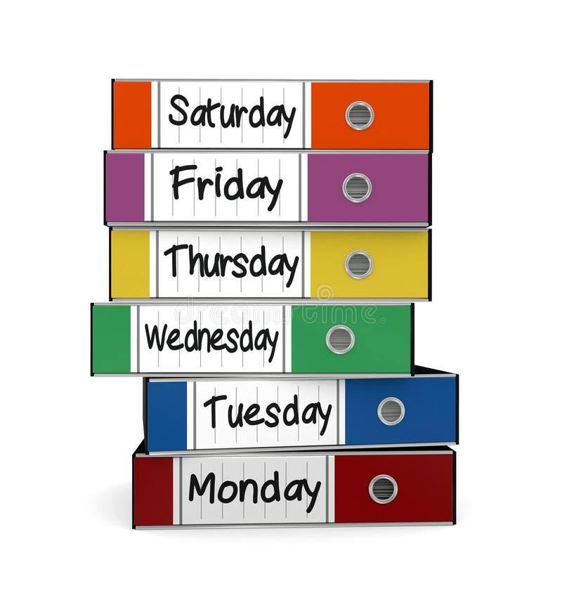 Het werkweek stock illustratie